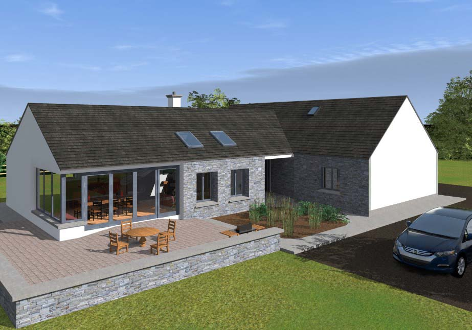 Open plan bungalow for Bungalow plans ireland